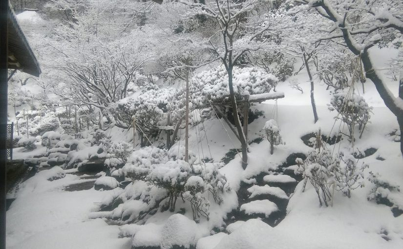 漢詩 十二月十八日 新雪