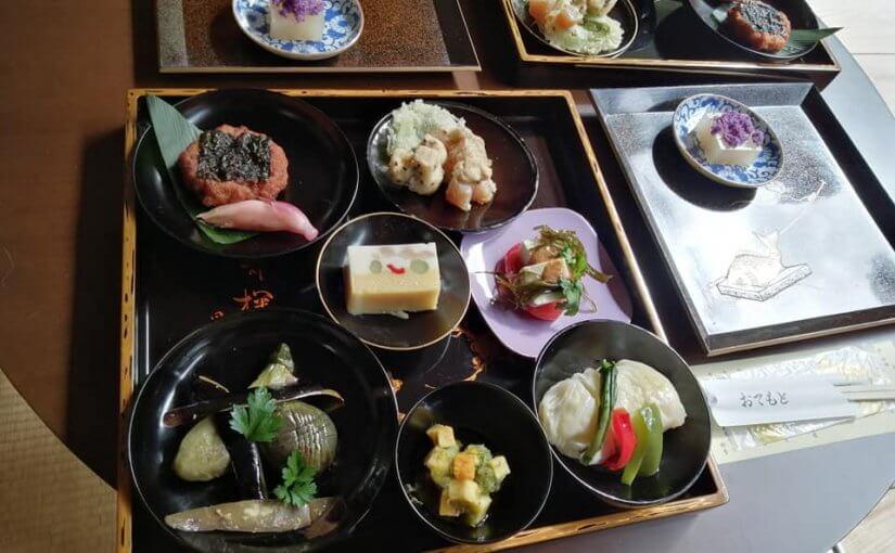 10月7日 本日の精進料理。福島県から団参23人でした。