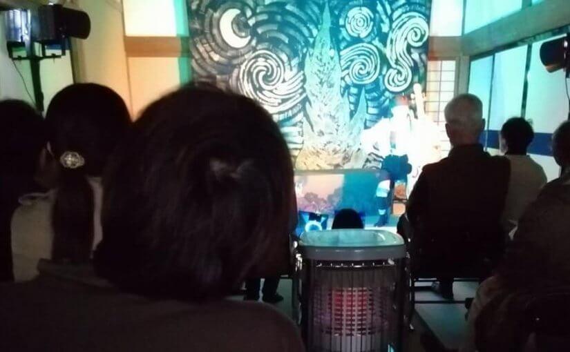 11月11日 昨日は演劇公演 演技はアッパレ 観客40人 大盛況でした。
