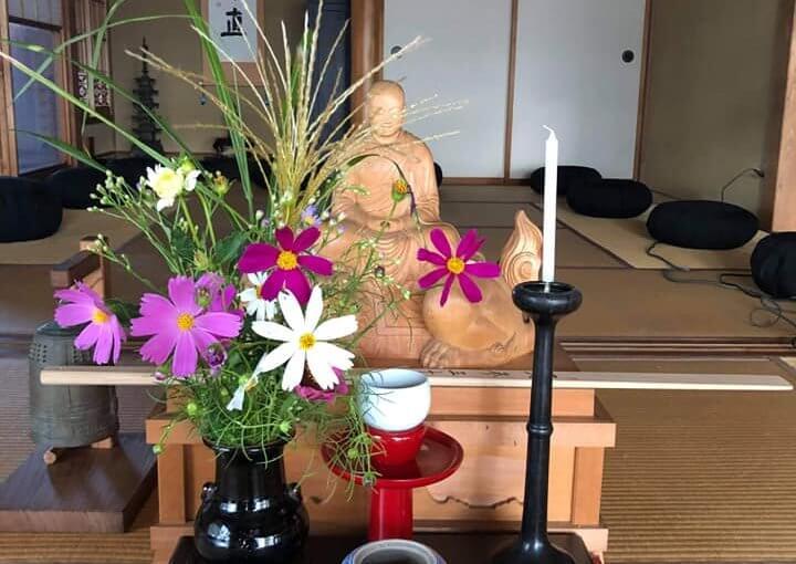 9月13日 今日は午後から新発田の普門寺(娘であり弟子であります法侖尼が昨年から住職してます)で坐禅と講義の会。参加者は合計18人でした。