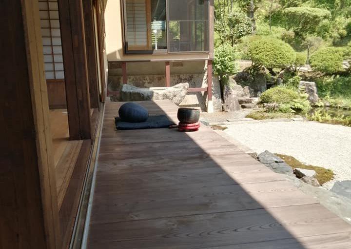7月22日 やはり暑い新潟県村上市です昨日 石の周り木の下あたりを草刈りしたのでスッキリしています。夜と朝 ここで坐禅をしています